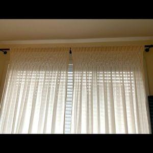 Pottery Barn Organic Cotton Window Curtains/Drapes